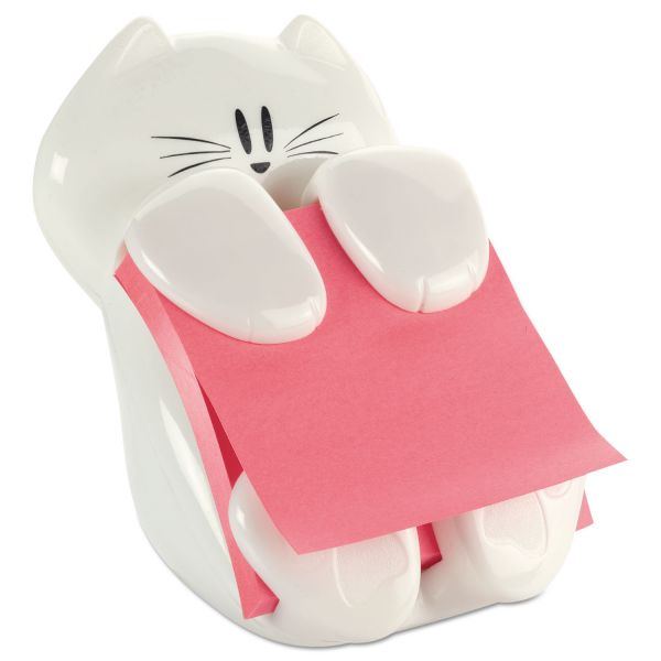 Post-it Pop-up Notes Super Sticky Pop-Up Note Dispenser Cat Shape, 3 x 3, White