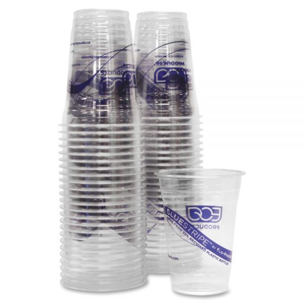Eco-Products BlueStripe 16 oz Cold Cups