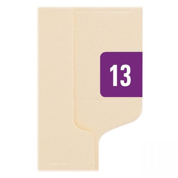 "Smead Year ""2013"" End Tab File Folder Labels"