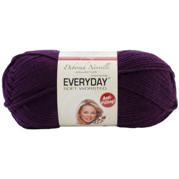Deborah Norville Collection Everyday Soft Worsted Yarn - Aubergine