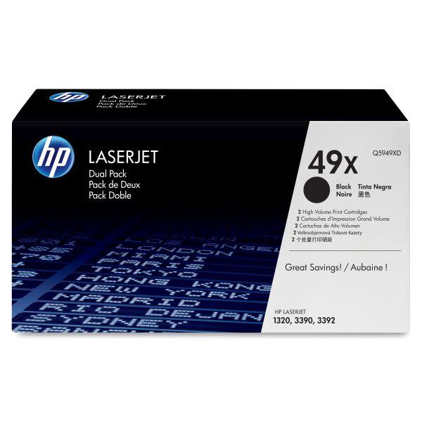 HP 49X Black High Yield Toner Cartridges (Q5949XD)