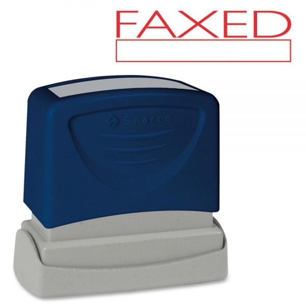 Sparco FAXED Red Title Stamp