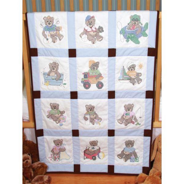 Stamped Baby Quilt Blocks