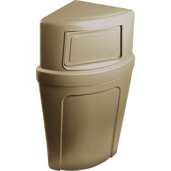 Continental Corner Round 21 Gallon Trash Can