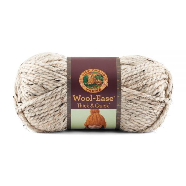 Lion Brand Wool-Ease Thick & Quick Yarn - Oatmeal