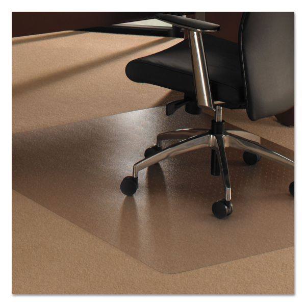 Floortex Cleartex Ultimat XXL Polycarb. Square General Office Mat F/Carpets,60x60,Clear