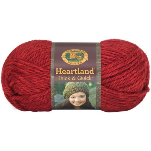 Lion Brand Heartland Thick & Quick Yarn - Redwood