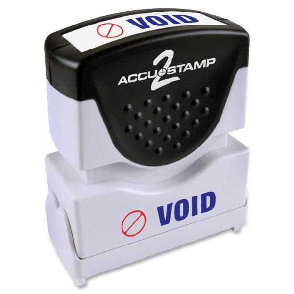 ACCUSTAMP2 Pre-Inked Shutter Stamp with Microban, Red/Blue, VOID, 1 5/8 x 1/2
