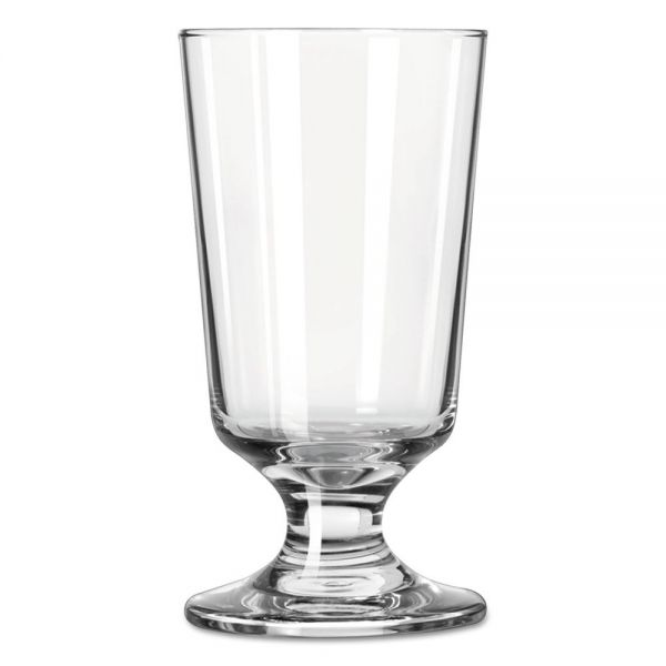 Libbey Embassy 8 oz Footed Hi-Ball Drink Glasses