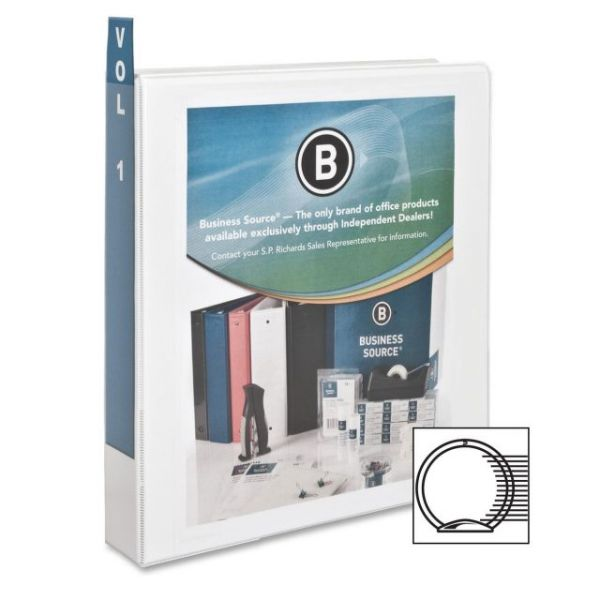 "Business Source 1 1/2"" 3-Ring View Binder"