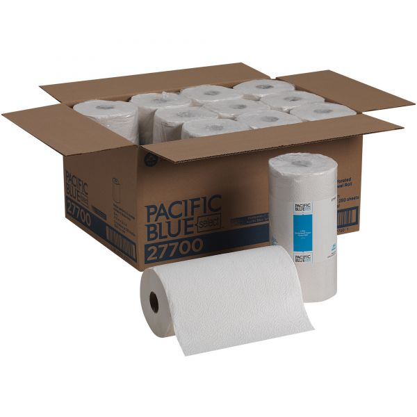 Georgia Pacific Professional Pacific Blue Select Perforated Paper Towel, 8 4/5 x 11, 2-Ply, White, 250 Sheets/Roll, 12 Rolls/Carton