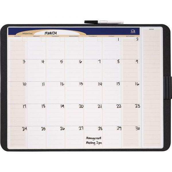 Quartet Tack & Write Monthly Dry Erase Calendar Board