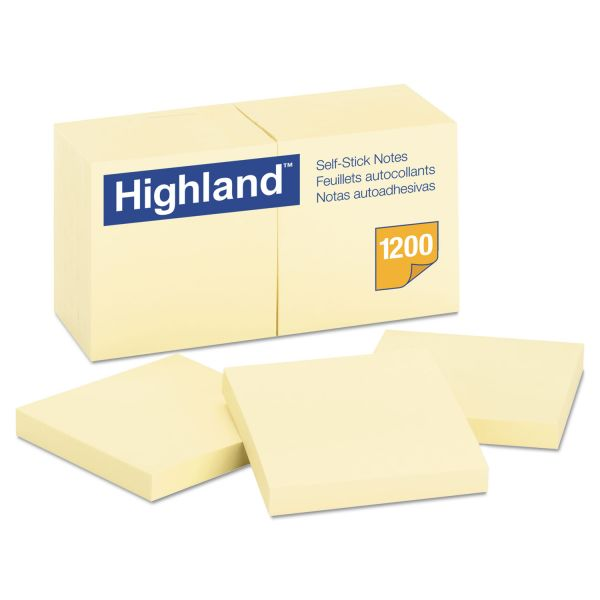 "Highland 3"" x 3"" Adhesive Note Pads"