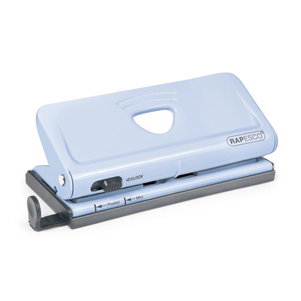 Rapesco Adjustable 6-Hole Organizer/ Diary Punch (Blue)