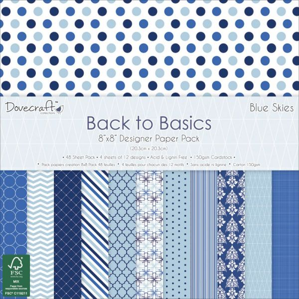 "Dovecraft Back To Basics Paper Pack 8""X8"" 48/Pkg"