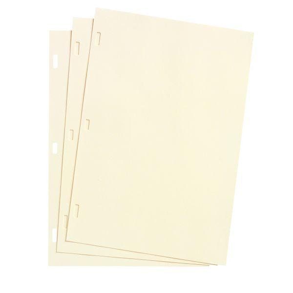 Wilson Jones Looseleaf Minute Book Ledger Sheets, Ivory Linen, 14 x 8-1/2, 100 Sheet/box