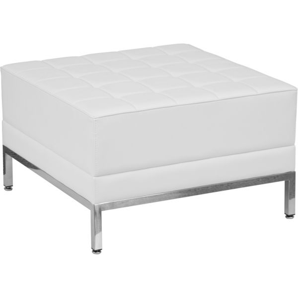 Flash Furniture HERCULES Imagination Series White Leather Ottoman