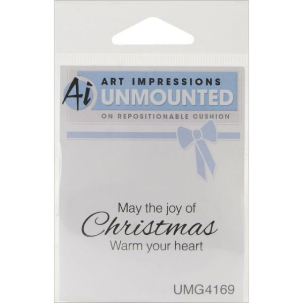 "Art Impressions Christmas Cling Rubber Stamp 4""X3"""