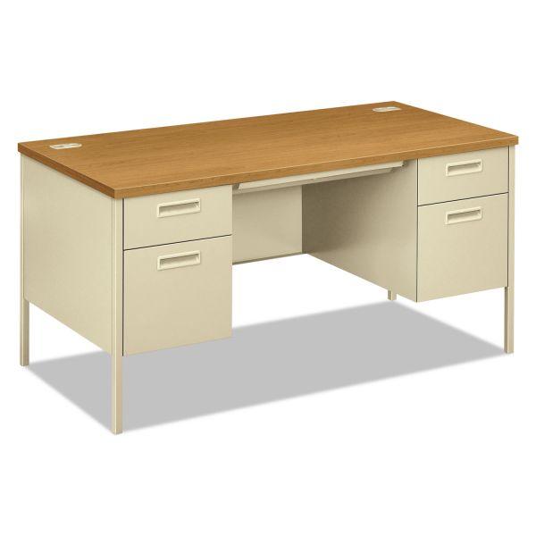 "HON Metro Classic Double Pedestal Desk | 2 Box / 2 File Drawers | 60""W"