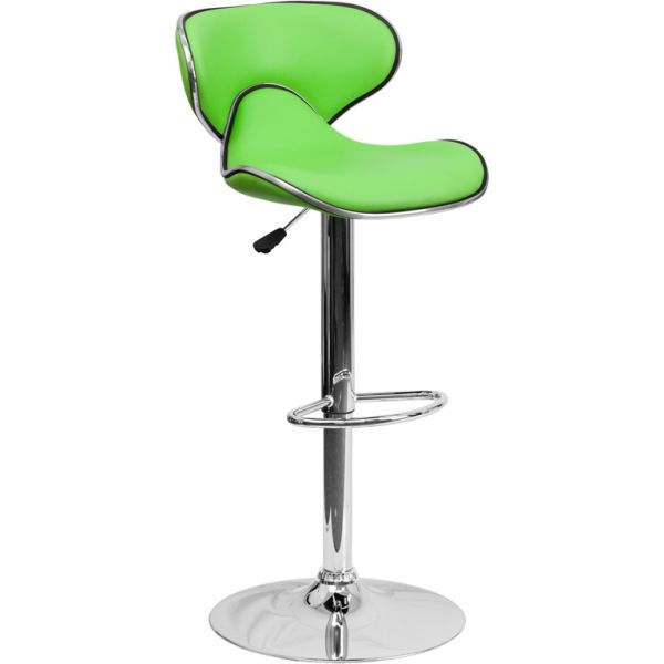 Flash Furniture Contemporary Cozy Mid-Back Barstool