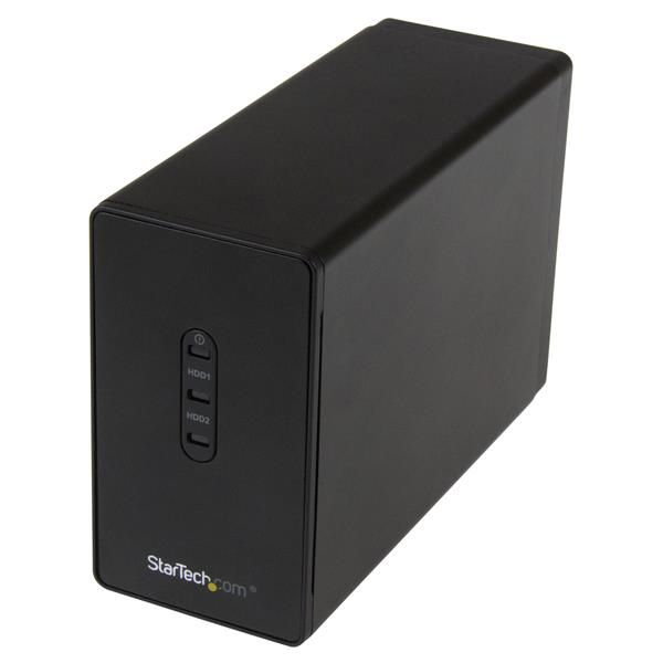 StarTech.com Dual-bay 2.5in Hard Drive Enclosure - USB 3.0 to SATA III 6Gbps with RAID
