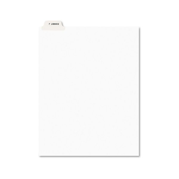 Avery Avery-Style Preprinted Legal Bottom Tab Divider, Exhibit J, Letter, White, 25/PK