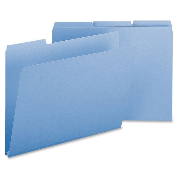 Smead Blue Colored Pressboard File Folders