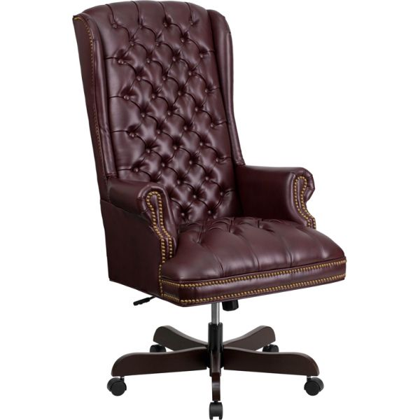 Flash Furniture Traditional Tufted Executive Swivel Office Chair [CI-360-BY-GG]