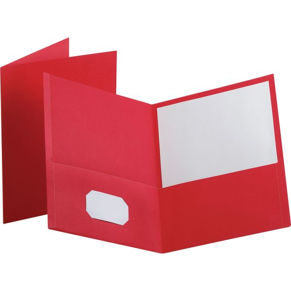 Esselte Red Two Pocket Folders