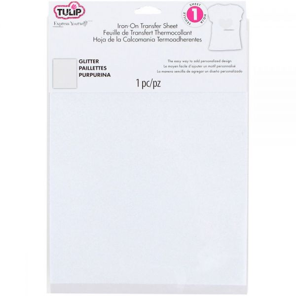 "Tulip Iron On Glitter Transfer Sheet 8.5""X11"" 1/Pkg"