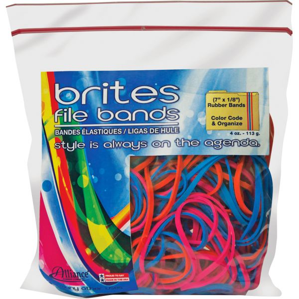 Brites! File Bands Colored Rubber Bands