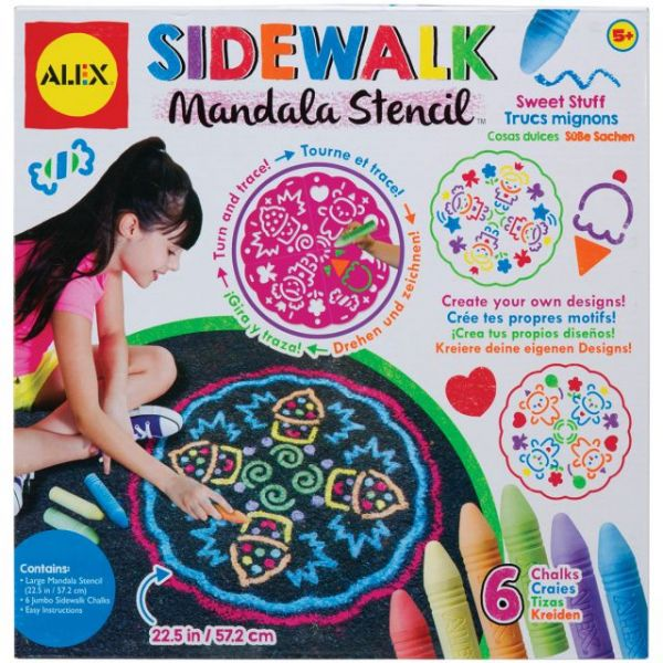 ALEX Toys Artist Studio Sidewalk Mandala with Sweet Stuff Designs Kit