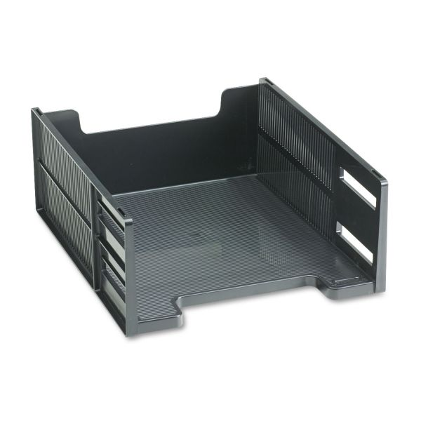 Rubbermaid Stackable High Capacity Front Load Letter Tray, Polystyrene, Ebony