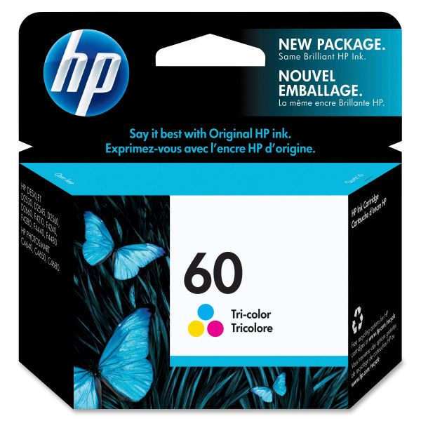HP 60 Tri-Color Ink Cartridge (CC643WN)