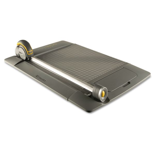 "Westcott TrimAir Titanium 45MM Rotary Paper Trimmer, Metal Base, 15"""