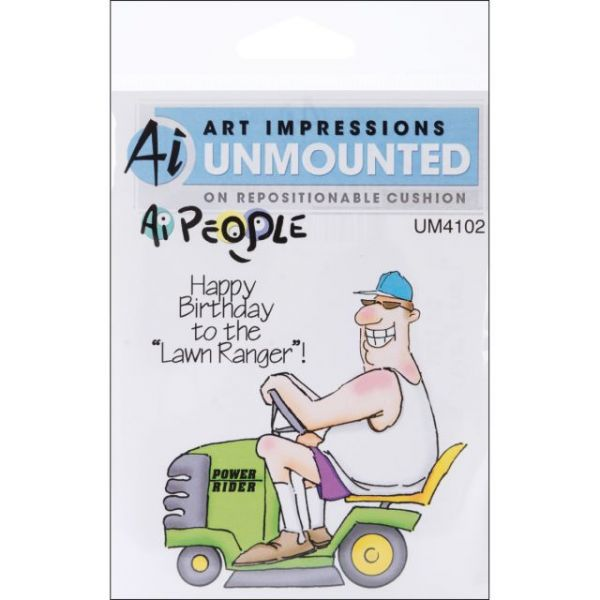 "Art Impressions People Cling Rubber Stamps 6""X4"""