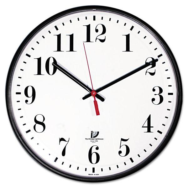 Chicago Lighthouse Contemporary Slimline Wall Clock