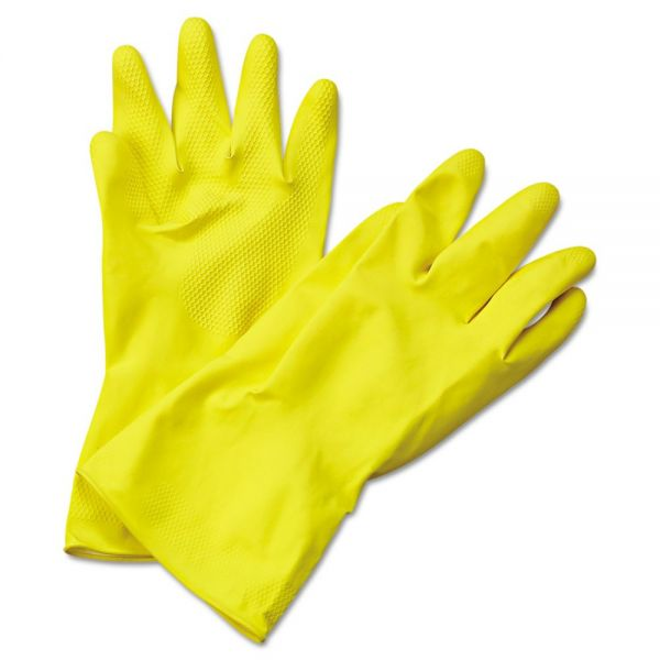 Boardwalk Flock-Lined Latex Cleaning Gloves