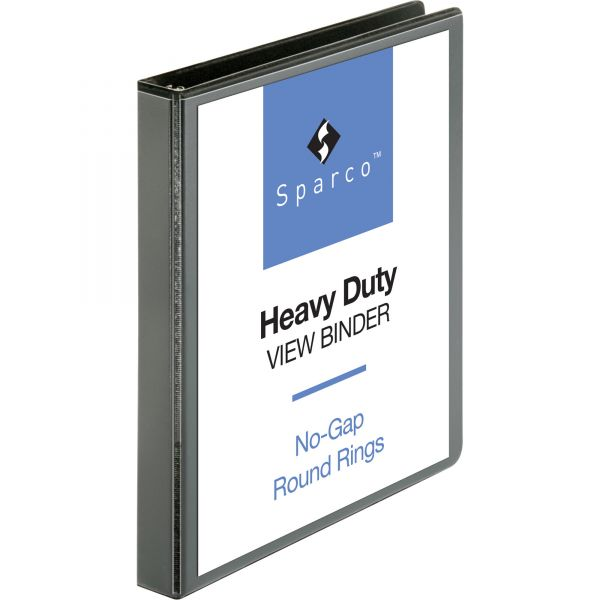 "Sparco Premium 1"" 3-Ring View Binder"