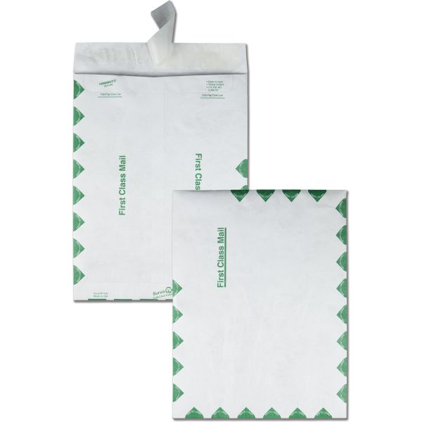 "Quality Park 9 1/2"" x 12 1/2"" First Class Tyvek Envelopes"