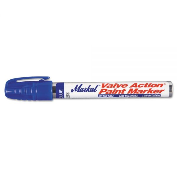 Markal Valve Action Paint Marker, Blue