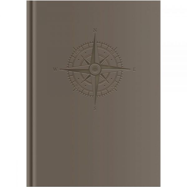 "Grey Zone Hardbound Notebook 6""X8.75"""