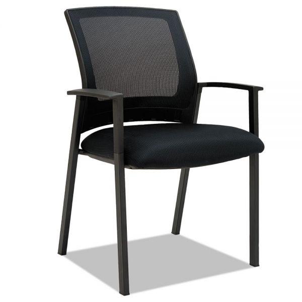Alera ES Series Mesh Stack Chairs, Black, 2 per Carton