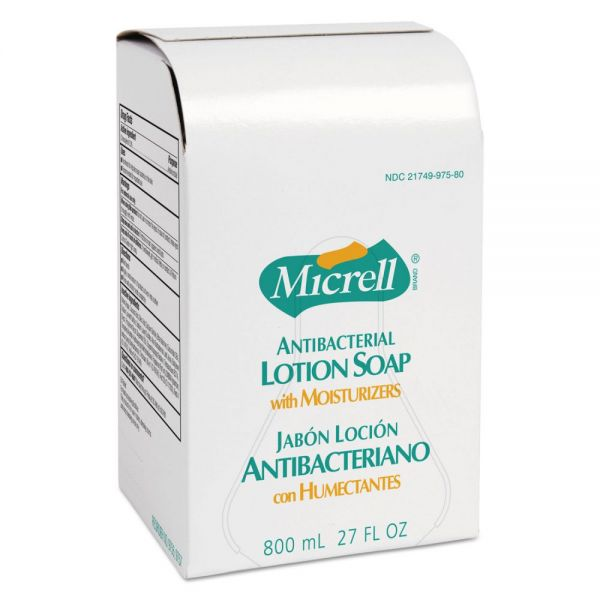 MICRELL Antibacterial Lotion Soap, Amber, 800mL Refill, 6/Carton