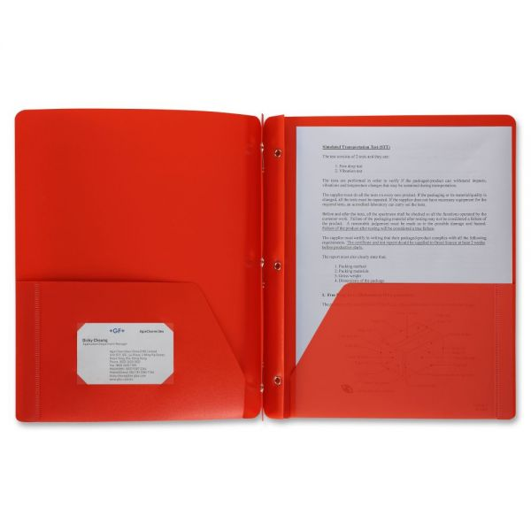 Business Source 3-Prong Two-Pocket Folder