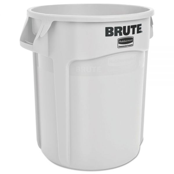 Rubbermaid Commercial Round Brute Container, Plastic, 20 gal, White