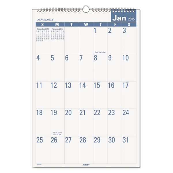 At-A-Glance E-Z Read Monthly Wall Calendar