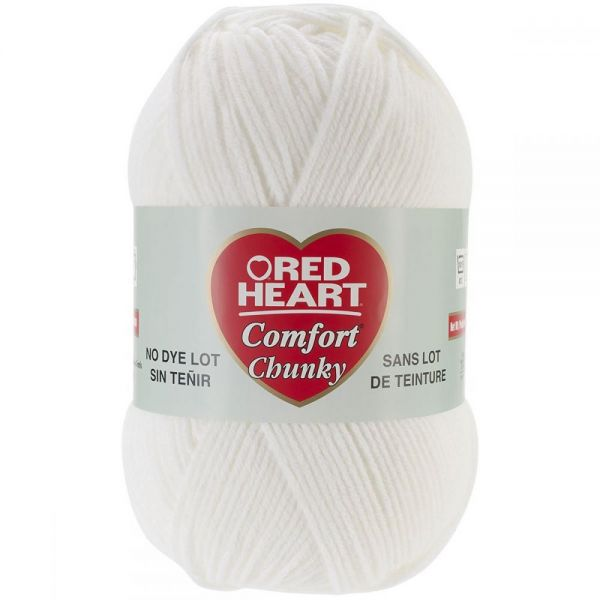 Red Heart Comfort Chunky Yarn - White