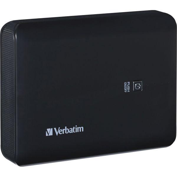 Verbatim Dual USB Power Pack, 10400mAh - Blackk
