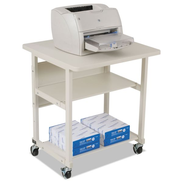 BALT Heavy-Duty Mobile Laser Printer Stand, Three-Shelf, 27w x 25d x 27-1/2h, Gray